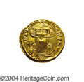 Ancients:Byzantine, Ancients: Constans II. A.D. 641-668. AV solidus (20 mm, 4.47 g).Constantinople, A.D. 651-654. Crowned facing bust, holding globuscru...