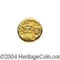 Ancients:Byzantine, Ancients: Constans II. A.D. 641-668. AV solidus (12 mm, 4.39 g).Carthage, A.D. 658/9. Crowned facing busts of Constans, holdingglobu...