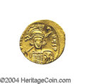 Ancients:Byzantine, Ancients: Constantine IV. A.D. 668-685. AV solidus (19 mm, 4.41 g).Constantinople, A.D. 674-681. Helmeted and cuirassed bust facings...
