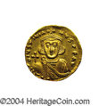 Ancients:Byzantine, Ancients: Justinian II. First Reign, A.D. 685-695. AV solidus (20mm, 4.44 g). Constantinople, A.D. 687-692. Crowned facing bust,hold...
