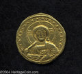Ancients:Byzantine, Ancients: Constantine VII, with Romanus II. A.D. 913-959. AVsolidus (20 mm, 3.91 g). Constantinople, A.D. 945-959. Nimbate bustof Ch...