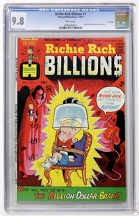 Richie Rich Billions #1 File Copy (Harvey, 1974) CGC NM/MT 9.8 White pages