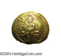 Ancients:Byzantine, Ancients: Isaac I. 1057-1059. AV histamenon nomisma (28 mm, 4.40g). Constantinople. Christ enthroned facing, raising right hand inbe...