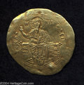 Ancients:Byzantine, Ancients: Alexius I. 1081-1118. AV hyperpyron (32 mm, 4.10 g). Constantinople, post-reform, 1092-1118. Christ enthroned facing, raisin...