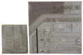 """Movie/TV Memorabilia, Star Wars: Episode IV - A New Hope (2) miniature pieces of the """"Death Star"""" surface...."""