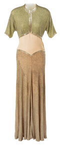 Movie/TV Memorabilia, Group of (9) Women's beaded dresses from unidentified productions dating from the 1930s to the 1950s. ...
