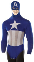 """Movie/TV Memorabilia, Dick Purcell """"Captain America"""" tunic, cowl, and belt buckle from the Captain America Republic serial...."""