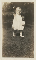 Movie/TV Memorabilia, Marilyn Monroe childhood photograph - Norma Jeane at 2 years old....