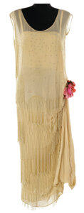Movie/TV Memorabilia, Marion Davies beige flapper dress from an unidentified production....
