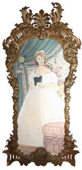 Movie/TV Memorabilia, Monumental ornate gold painted frame from The Legend of Lylah Clare....