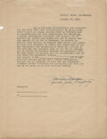 Movie/TV Memorabilia, Marilyn Monroe power of attorney document twice-signed as Marilyn Monroe and Norma Jeane Dougherty....