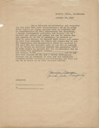 Marilyn Monroe power of attorney document twice-signed as Marilyn Monroe and Norma Jeane Dougherty