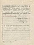 Movie/TV Memorabilia, Marilyn Monroe and agent Johnny Hyde signed William Morris Agency contract....