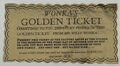 Movie/TV Memorabilia, Assistant Director Wolfgang Glattes' screen used Golden Ticket from Willy Wonka & the Chocolate Factory....