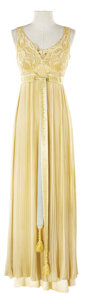 """Movie/TV Memorabilia, Barbara Stanwyck """"Julia Sturges"""" ivory nightgown designed by Dorothy Jeakins from Titanic...."""