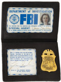 """Movie/TV Memorabilia, Gillian Anderson """"Scully"""" prop FBI badge and credentials from The X-Files. ..."""