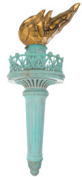 """Movie/TV Memorabilia, Ghostbusters II scale model of the """"Statue of Liberty"""" torch with flame...."""