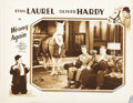Movie Posters, Laurel and Hardy lobby card from Wrong Again. . ...