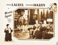 Laurel and Hardy lobby card from Wrong Again