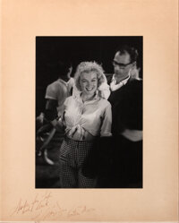 Marilyn Monroe and Arthur Miller extremely rare oversize photograph signed by both
