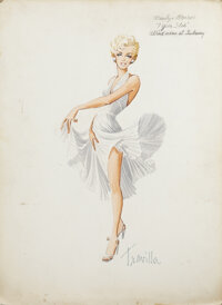 """Travilla """"Subway Dress"""" costume design for The Seven Year Itch"""