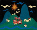 Movie/TV Memorabilia, Mary Blair concept art for It's a Small World attraction at Disneyland....