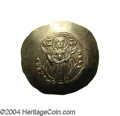 Ancients:Byzantine, Ancients: Andronicus I. 1183-1185. EL aspron trachy (32 mm, 4.31g). Constantinople. The Virgin standing facing, orans /Andronicu...