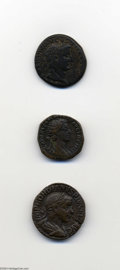 Ancients:Roman, Ancients: Lot of three Roman bronzes. Includes: Commodus.Dupondius. Minerva. VF // Gordian III. Sestertius. Sol. Good VF //Syria, Co... (Total: 3 coins Item)