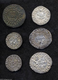Armenia: , Armenia: Silver and Copper Collection, an intriguing group of sixearly issues including: Copper Tank of Levon I, crude XF,Bedoukian... (Total: 6 Coins Item)