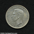 Australia: , Australia: George VI Crowns 1937 and 1938, KM34, the 1937 islustrous XF+ with typical surface marks on the obverse, while the1938 is ... (Total: 2 coins Item)