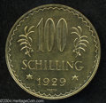 Austria: , Austria: Republic gold 100 Schilling 1929, KM2842, choice prooflikeBU....