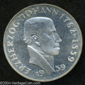 Austria: , Austria: 25 Schillings 1959, KM-2887, Proof, Centennial of thedeath of Johann. ...