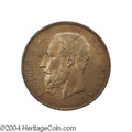Belgium: , Belgium: Leopold II 5 franc size Mint Visit in copper 1892, Bustleft/Coining press, Dup-1260, toned prooflike AU/Unc.. From theMa...