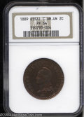Central American Union: , Central American Union: Essai 2 Centimes 1889, Bruce-XE22, Proof 64NGC....