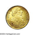 Chile: , Chile: Carlos III gold 8 Escudos 1778/7/6-DA, KM27, choice XF withconsiderable mint luster, very scarce and attractive, and an unr...