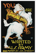 """Movie/TV Memorabilia, """"You Are Wanted by U. S. Army"""" World War I recruitment poster...."""