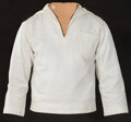 """Movie/TV Memorabilia, Steve McQueen """"Jake Holman"""" white naval shirt and shorts from The Sand Pebbles. ..."""