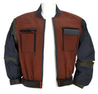 """Hero screen-used Michael J. Fox """"Marty McFly"""" Year 2015 """"resizing"""" future jacket worn in Back to the..."""
