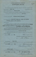 Movie/TV Memorabilia, Marilyn Monroe contract signed by the actress for the film Gentlemen Prefer Blondes....