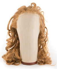 """Judy Garland """"Dorothy Gale"""" wig from the first week of shooting on The Wizard of Oz"""