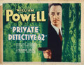 Movie Posters, William Powell (7) lobby cards from Private Detective 62. . ...