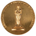 """Movie/TV Memorabilia, Floyd McCarty 1943 Academy of Motion Picture Arts & Sciences Annual Still Photography """"Class 8"""" award medal...."""