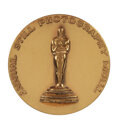 """Movie/TV Memorabilia, Clarence Sinclair Bull 1943 Academy of Motion Picture Arts & Sciences Annual Still Photography """"Class 7"""" award medal...."""