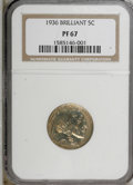 Proof Buffalo Nickels: , 1936 5C Type Two--Brilliant Finish PR67 NGC. NGC Census: (90/14).PCGS Population (111/6). Mintage: 4,420. Numismedia Wsl. ...