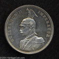 German East Africa: , German East Africa: Wilhelm II Rupie 1890, KM2, Proof withhairlines on both sides. ...
