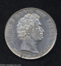 """German States:Bavaria, German States: Bavaria. Ludwig I Taler 1828, KM386, XF, lightlycleaned and two minor rim nicks. Struck to honor """"the blessings ofheaven o..."""