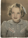 Movie/TV Memorabilia, Marilyn Monroe childhood photograph - Norma Jeane at 9 years old....