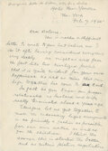 Movie/TV Memorabilia, John Barrymore letter to his wife Dolores Costello asking for a divorce....