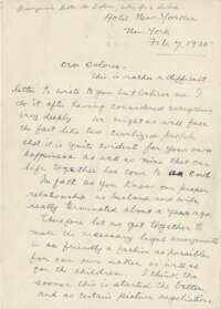 John Barrymore letter to his wife Dolores Costello asking for a divorce