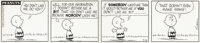 """Charles Schulz signed original Peanuts daily comic strip art featuring """"Charlie Brown"""""""